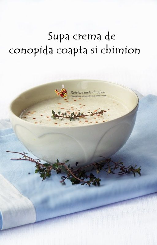 Supa crema de conopida coapta si chimion http://www.retetelemeledragi.com/2016/03/5-retete-de-supa-crema-de-post.html/