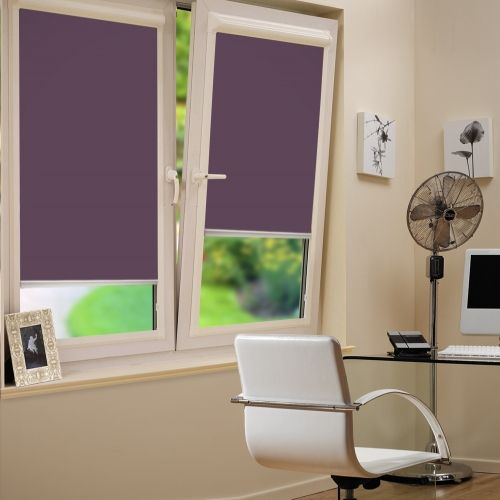 This INTU Roller blind with dim out properties is a Purple fabric