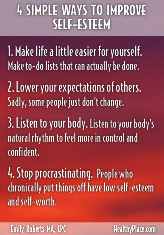 Signs of low self esteem in a man