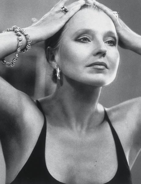 Hanna Schygulla (1943) - German actress and chanson singer. Photo by Michel Comte