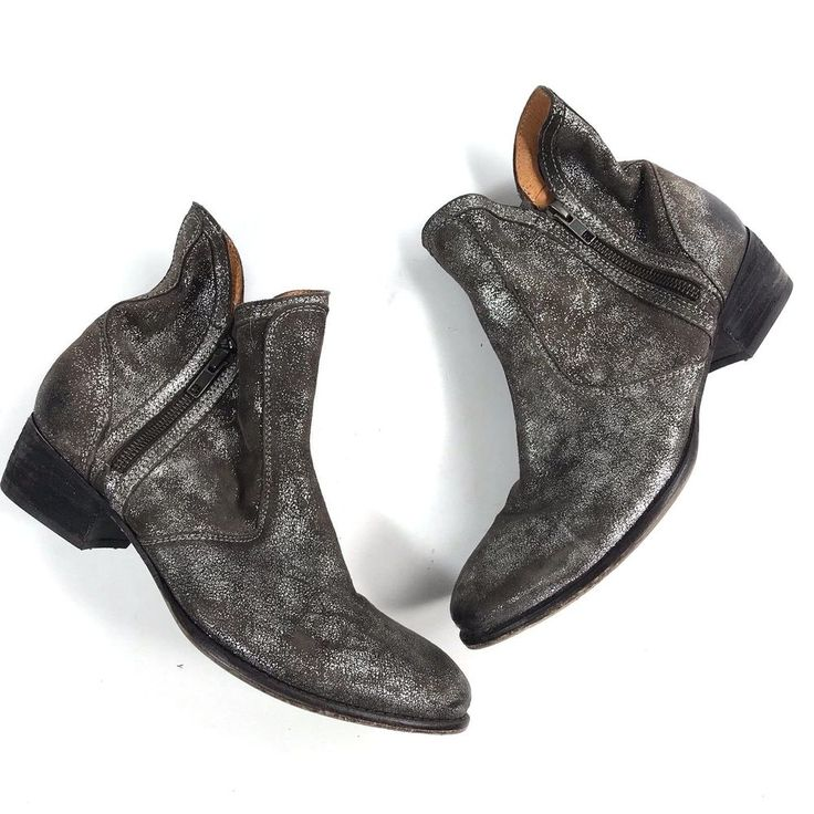 Anthropologie Seychelles 9.5 Leather Suede Pewter Chelsea Ankle Cowboy Boots #Seychelles #AnkleBoots #Casual #anthropologie  #womenshoes #fashion #style