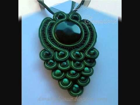 SOUTACHE BIJOUX  tutoriales y videos hermoso