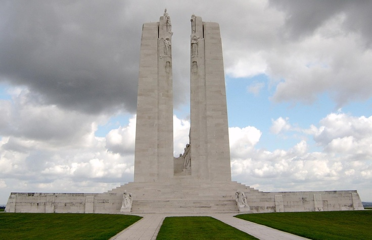 Commemorating the 95th anniversary of the battle of Vimy Ridge. On the fourth day of battle, Vimy Ridge was liberated by the Canadian army. 3500 Canadians were lost.