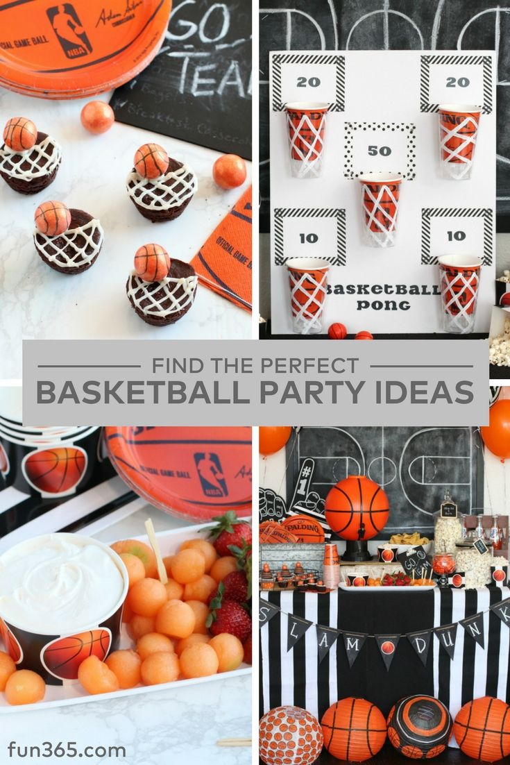 Get DIY ideas to host the perfect basketball themed party! From basketball themed recipes to party games Mariah from Giggles Galore has you covered.