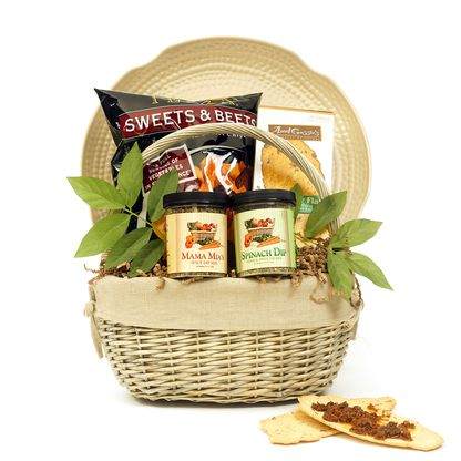 Hors D'oeuvre Party Basket- Yachad Gifts offers variety of kosher gift baskets Shabbos Hospitality, Purim, Passover, Gourmet, Weddings. Dedicated to employing individuals with disabilities.