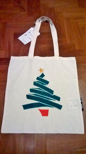 Borse da shopping - Shopping bag in cotonone biologico dipinta a mano - un prodotto unico di vestobio su DaWanda