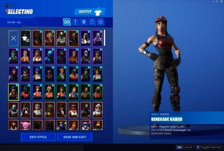Fortnite account Stacked honor guard Renegade Rare Og