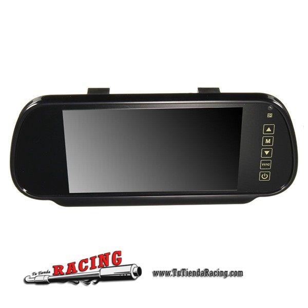53,64€ - ENVÍO SIEMPRE GRATUITO - Espejo Retrovisor Interior con Pantalla 7 Pulgadas LCD + Cámara IR Aparcamiento Universal para Coche - TUTIENDARACING