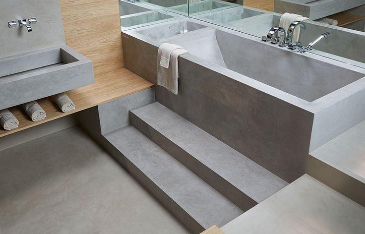 Risultati immagini per vasca doccia cemento