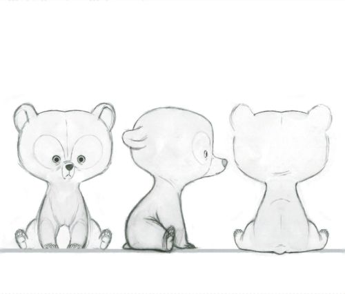 Brave Concept Art ✤ || @Michaela Bush This is a good reference for drawing the little brothers in bear form :)