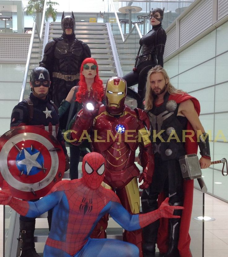 SUPERHEROES  to hire - BATMAN, CATWOMAN, CAPTAIN AMERICA, IRON MAN,SPIDERMAN, POISON IVY for your SUPERHEROES themed party and corporate events. www.calmerkarma.co.uk    Tel:  0203 602 9540 Available to hire across the UK inc London, manchester, cheshire, Birmingham, Belfast