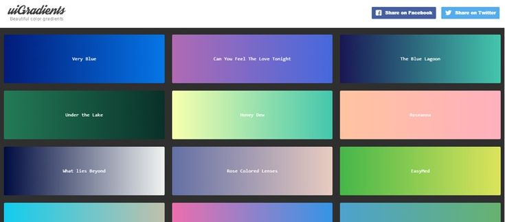 uiGradients is a very useful tool offeringan ever-growing collection of gradients for designers. Even though gradients are not as popular as they used to be a few years ago, the trend is slowly coming back, so a tool like this can prove very useful. You can add your own gradient or browse the already added [
