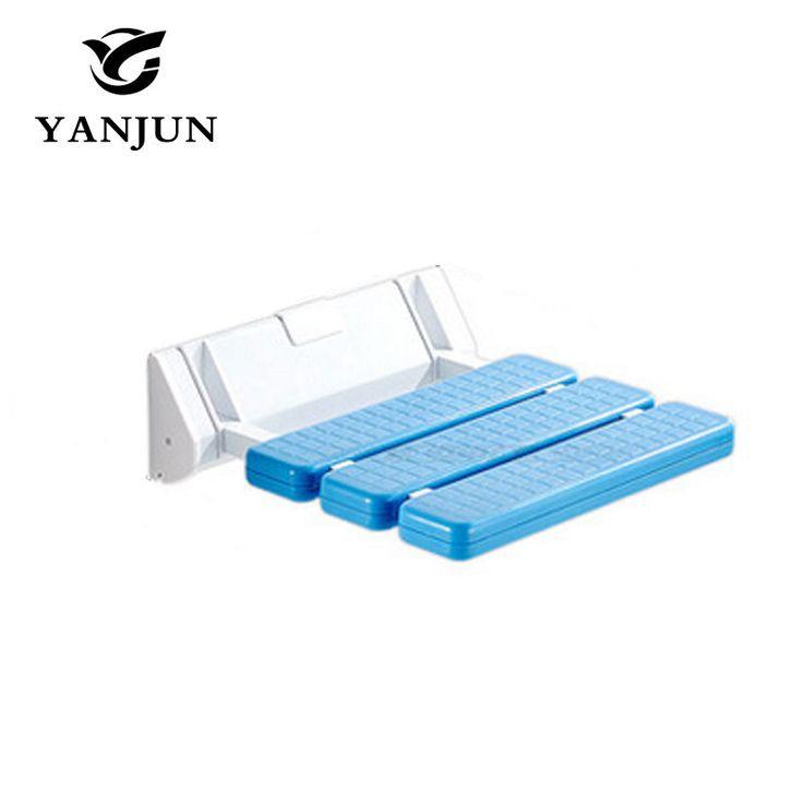 YANJUN Folding Bath Shower Seat  Wall Mounted Relaxation Shower Chair Solid Seat Spa Bench Saving SpaceBathroom  YJ-2030