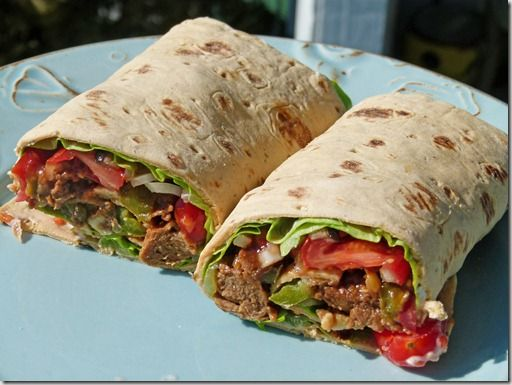 """Sinfully Nutritious: Philly """"Cheese Steak"""" Wrap"""
