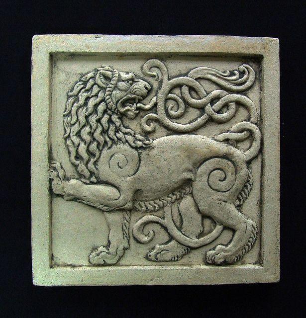 lion ceramic tile by Roman Khalilov | shared on Flickr - Photo Sharing!