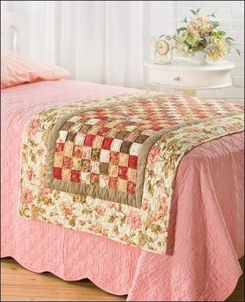 Love this. maybe with a floral pattern. bed runner....table runner.....quilt. …