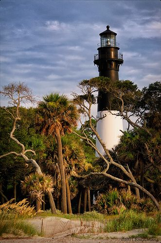 Lighthouse - Hunting Island State Park, South Carolina, Near Beaufort - SC