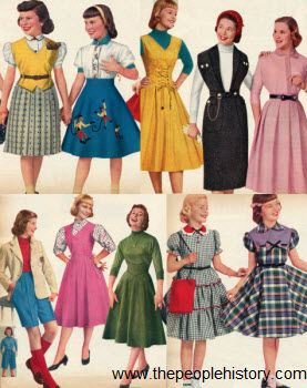 1950 Teenage Clothing | 1950s Childrens Fashion Part of Our Fifties Fashions Sec…