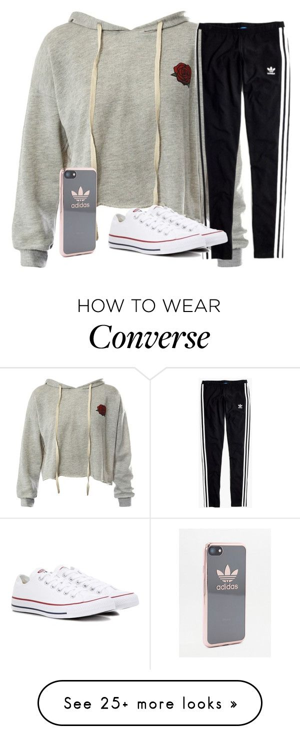 """""""Untitled #2617"""" by laurenatria11 on Polyvore featuring Sans Souci, Madewell, Converse and adidas"""