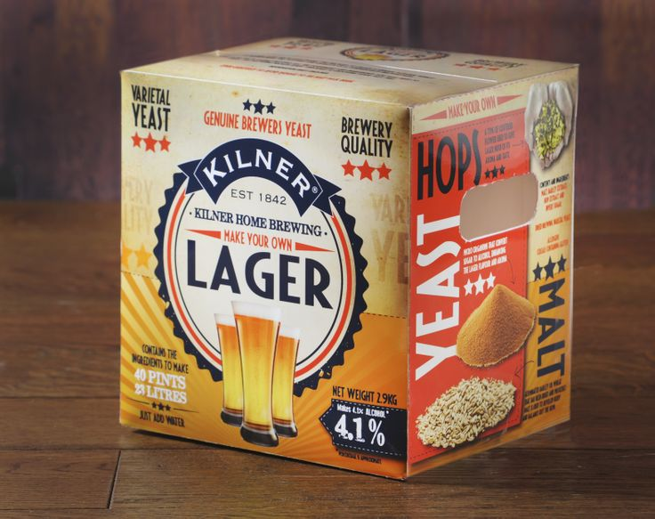 Kilner Drink Works - Lager. Brew your lager at home with this handy kit!
