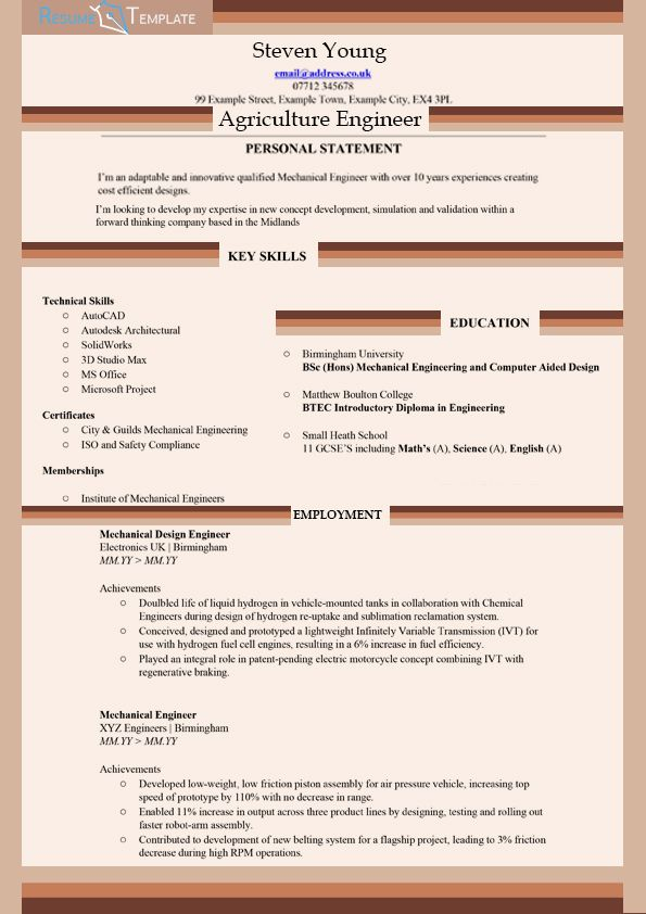 16 best images about Resume and Cover Letter – Agriculture Resume Template