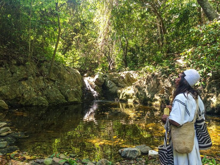 Visit Indigenous Communities! Mamo #Arhuaco en quebrada #LaJorara #SierraNevada