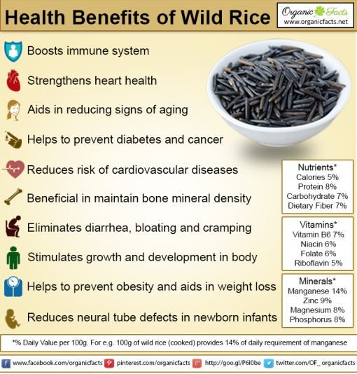 Some of the most important health benefits of wild rice include its ability to improve heart health, stimulate growth and repair throughout the body, slows the signs of aging, protects against chronic diseases, prevents the onset of diabetes, optimizes the digestive process, strengthens your bones, boosts your immune system, and helps with weight loss efforts.