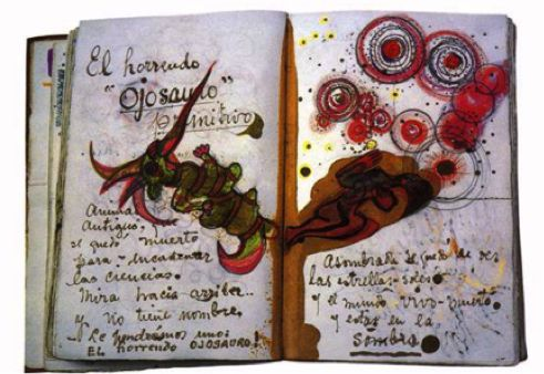 The visual journal of Frida Kahlo is manifested by a large amount of negative connotations and symbolism due to the struggle that overwhelmed her journey as an artist. Although I am unable to read the foreign language within the visual journal I still feel connected with Frida Kahlo due to expressive marks she has produced.