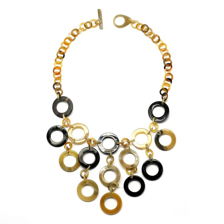 Beautiful handmade necklace of buffalo horn. Watch our Buffalo horn jewelry collection now!
