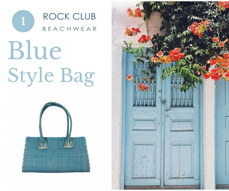 Blue passion in Greece Little Style blue bag