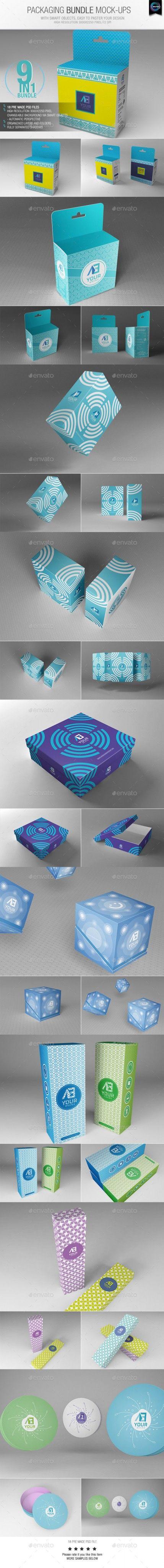 6 poster design photo mockups 57079 - Packaging Bundle Mock Ups Graphicriver