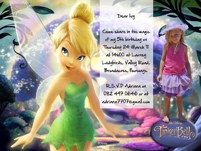 My daughters 5th birthday invite
