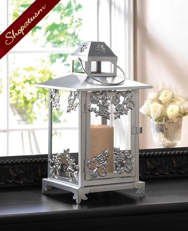12 Wholesale Lanterns Ornate Wedding Centerpieces Silver Lantern Bulk Lot Lantern Centerpiece Wedding Candle Lantern Centerpieces Wedding Silver Lanterns