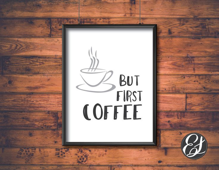 """PRINTABLE """"But First Coffee"""" Wall Hanging   Wall Decor   Home Decor   Kitchen Wall Hangings   11""""x8.5"""" Print File   Digital Files   Download by ElgraphicsCanada on Etsy"""
