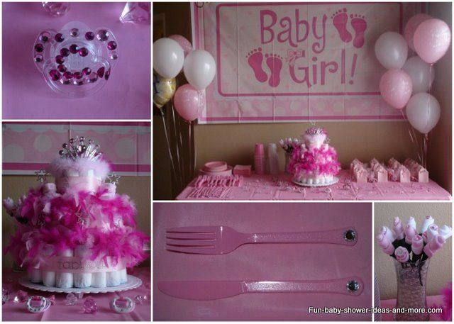 Decorating ideas for baby shower for girl princess baby for Baby shower decoration ideas for a girl