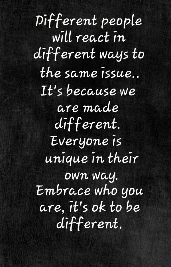 It S Ok To Be Different Simple Sayings Quotes To Live By Happy Words