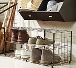 Liking this shoe rack for the kids shoes so they are easier to find in the morning.