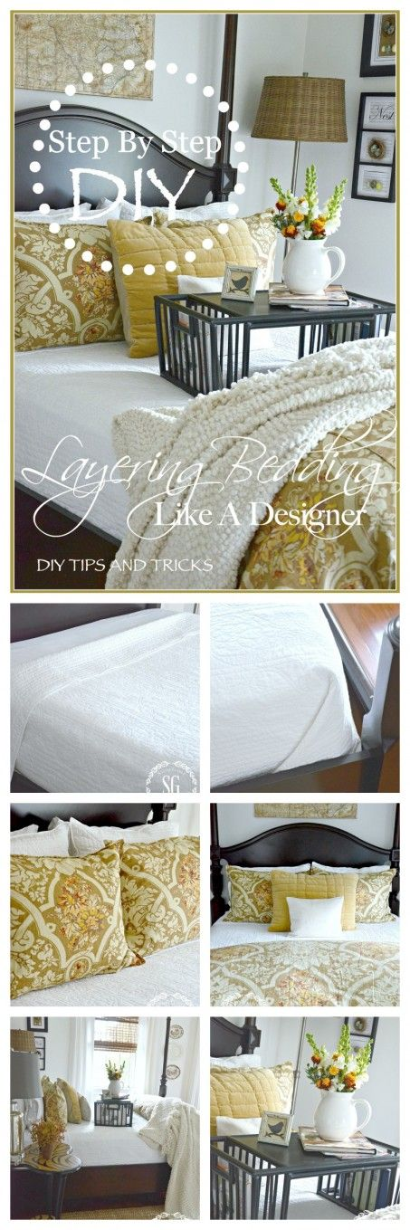 LAYERING BEDDING LIKE A DESIGNER-Create a beautiful bed by following some simple tips-stonegableblog.com