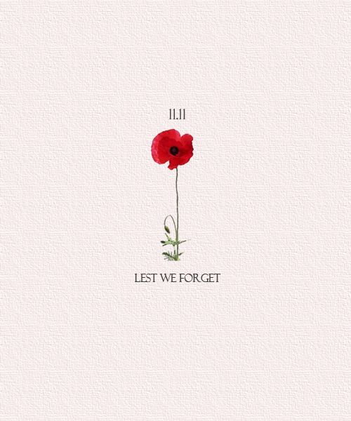"Remembrance Day. ""At the 11th hour, on the 11th day of the 11th month"