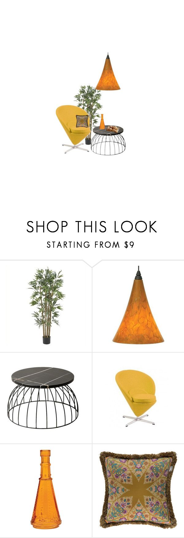 """""""Cone chair"""" by perpetto ❤ liked on Polyvore featuring interior, interiors, interior design, home, home decor, interior decorating, Nearly Natural, Tech Lighting, Cultural Intrigue and Etro"""