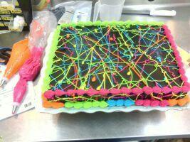 Neon Sheet Cake