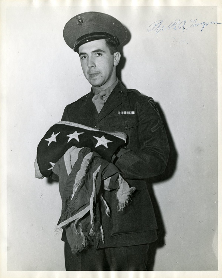 Rene Gagnon - A Marine, one of the three surviving men who raised the American Flag over Mt. Suribachi during the Battle of Iwo Jima in WWII.