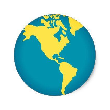 #Americas World Emoji Classic Round Sticker - #emoji #emojis #smiley #smilies