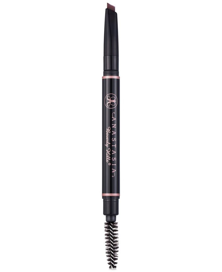 Anastasia Beverly Hills Retractable Mechanical Pencil Brow Definer (Auburn). This retractable mechanical pencil has a thick, triangular tip that outlines brows and fills sparse areas in one fluid motion. The smooth formula glides effortlessly to offer coverage and define, while the soft-bristled end blends edges for a natural finish. Available in 10 shades.