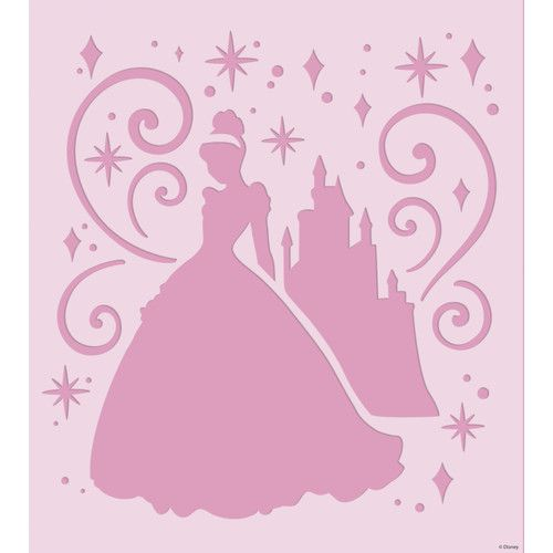 Disney castle stencil for walls room mates disney princess for Disney wall stencils for painting kids rooms