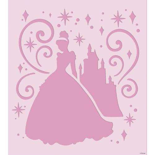 Disney Castle Stencil For Walls Room Mates Disney Princess