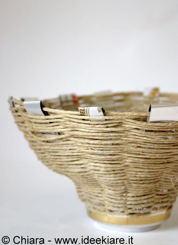 Ideekiare: Eco Craft Tour: cestino fatto con lattina di birra e spago