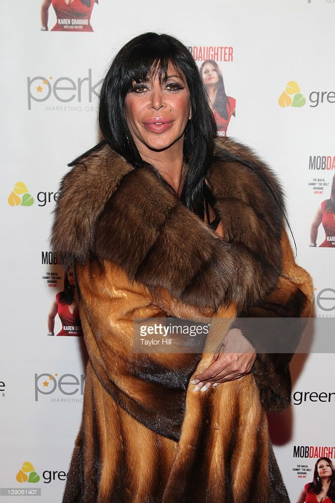 Mob Wife Angelina 'Big Ang' Raiola attends Karen Gravano's 'Mob Daughter' book release party at Greenhouse on February 15, 2012 in New York City.