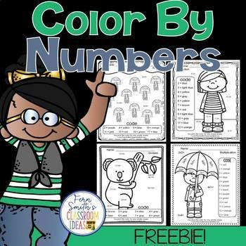 Your students will adore these FREE Color By Numbers worksheets for a mixed basic fact introduction or review. Addition, subtraction, multiplication and division are all included for your students to learn and review important skills at the same time as having fun in YOUR classroom! You will love the no prep, print and go Color Your Answers Worksheets for addition, subtraction, multiplication and division with all ANSWER KEYS Included with this FREEBIE!