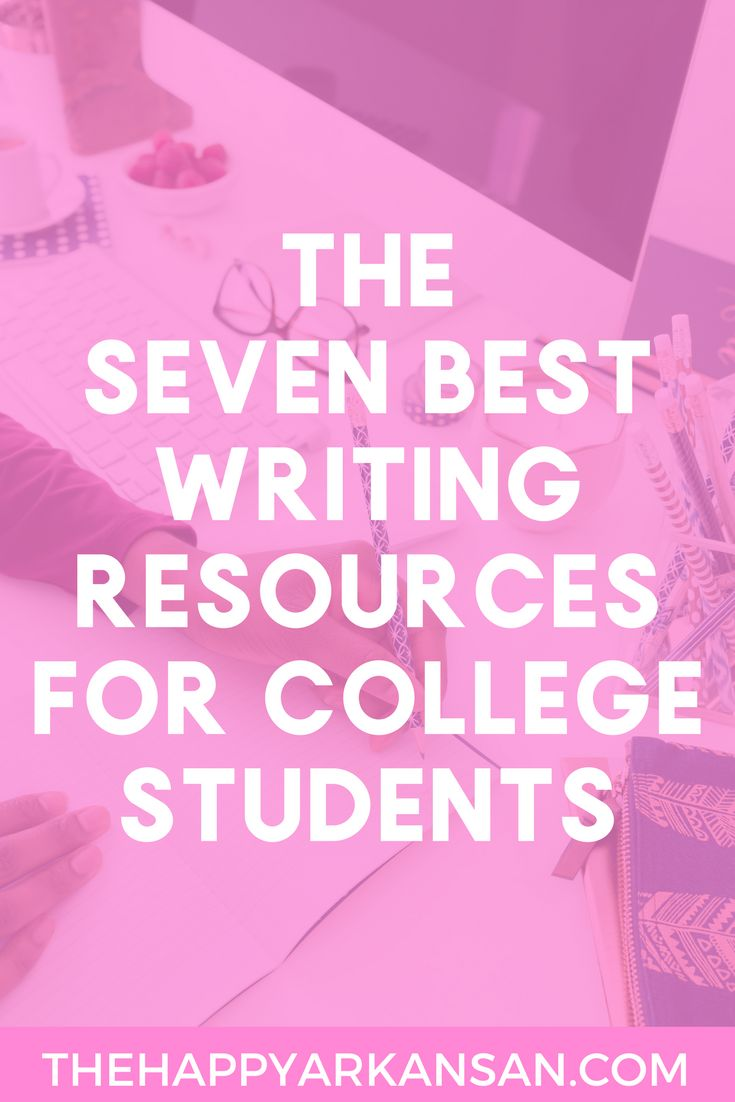 The 7 Best Writing Resources For College Students | Writing is an important skill to master in college. Learn about 7 great resources for writing in college by clicking through to read this blog post.